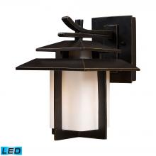ELK Lighting 42170/1-LED - Kanso 1-Light Outdoor Wall Lamp in Hazelnut Bronze - Includes LED Bulb