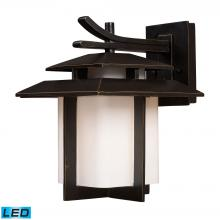 ELK Lighting 42171/1-LED - Kanso 1-Light Outdoor Wall Lamp in Hazelnut Bronze - Includes LED Bulb