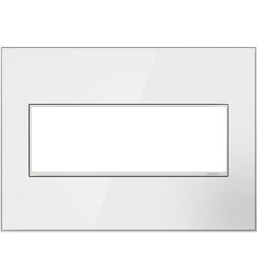 Mirror White On 3 Gang Wall Plate